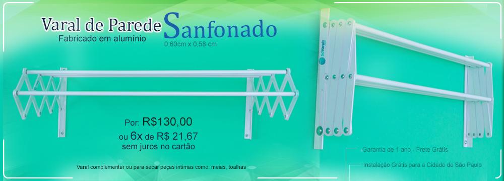 Banner Varal de parede sanfonado Sóvarais
